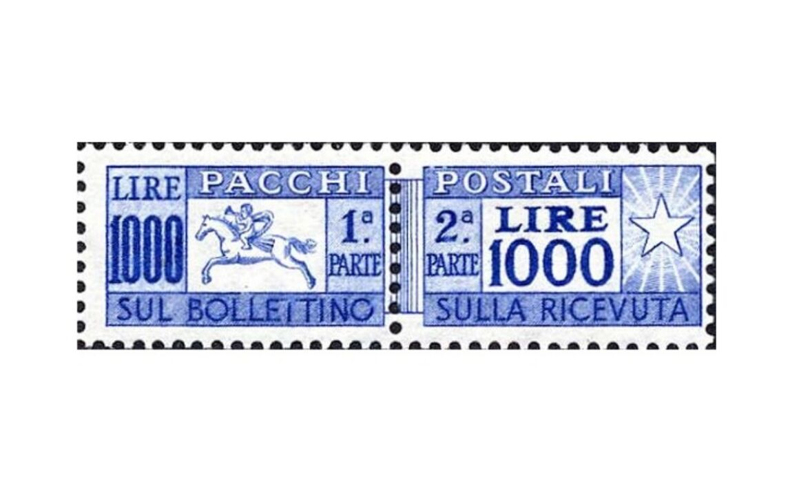 Valore francobollo Cavallino Ruota