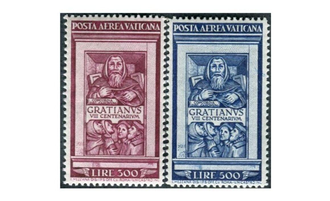 Valore del Francobollo 8° centenario di Graziano 1951