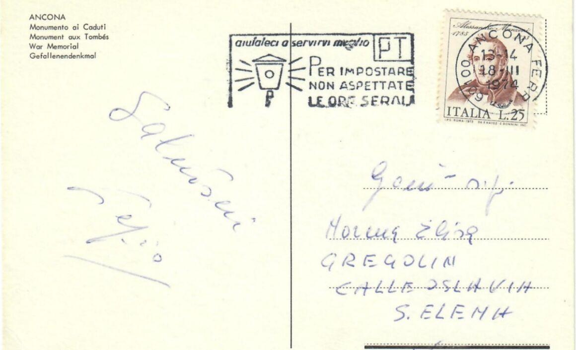 Valore del Francobollo Alessandro Manzoni 1973