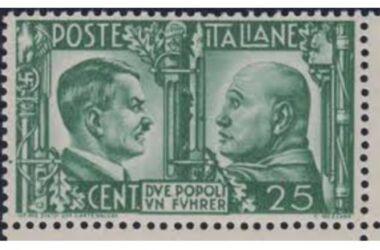 """Valore del Francobollo """"Due popoli, un führer – Imitazione di Guerra"""""""