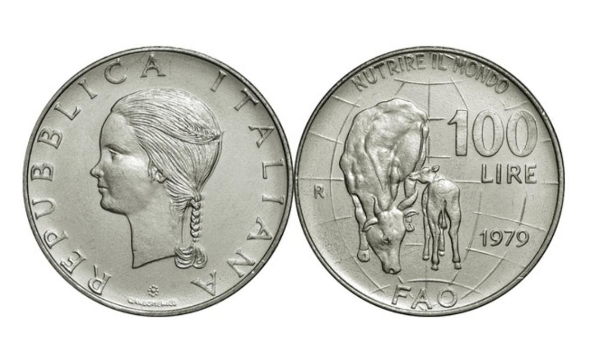Valore moneta da 100 lire 1979 FAO