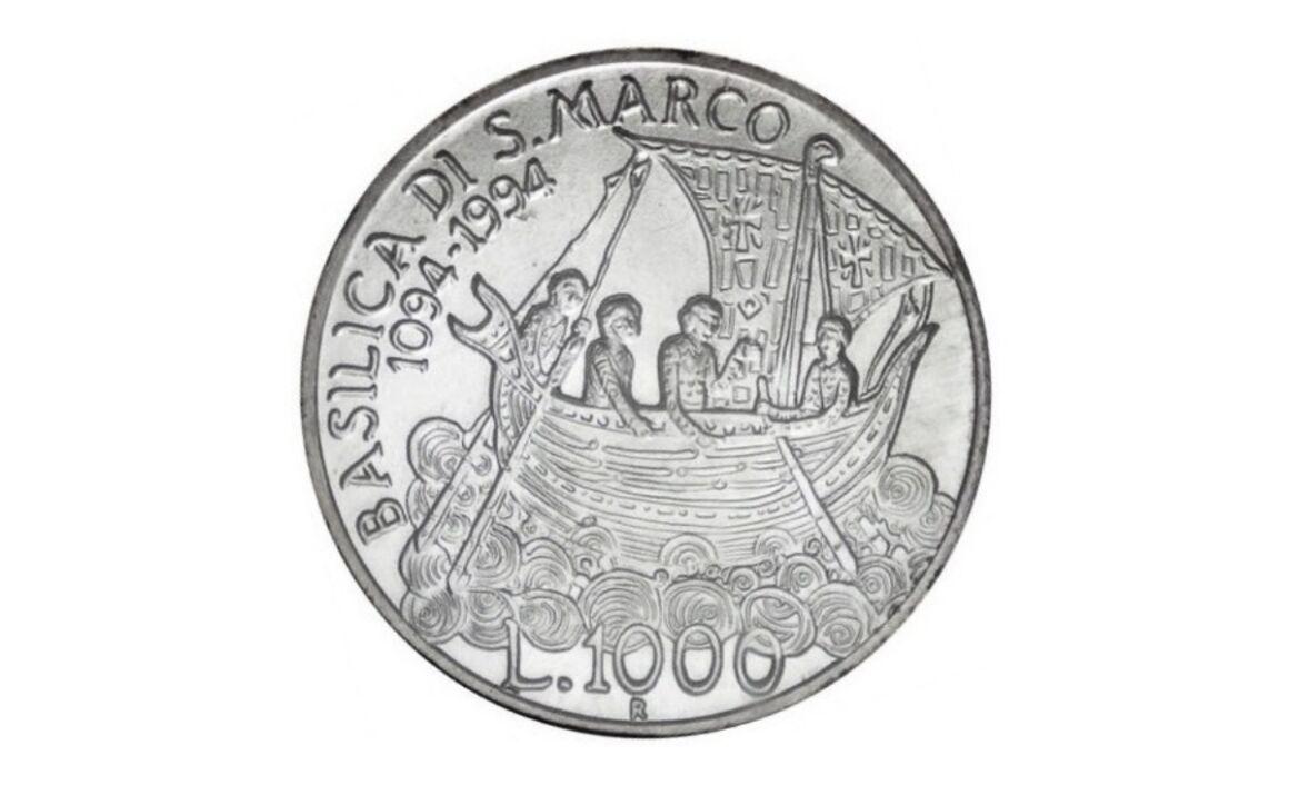 Valore moneta da 1000 Lire 1994 Anno Marciano in Venezia