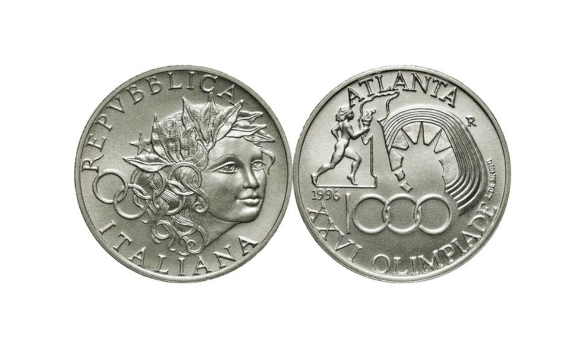 Valore moneta da 1000 Lire 1996 – Olimpiadi Atlanta