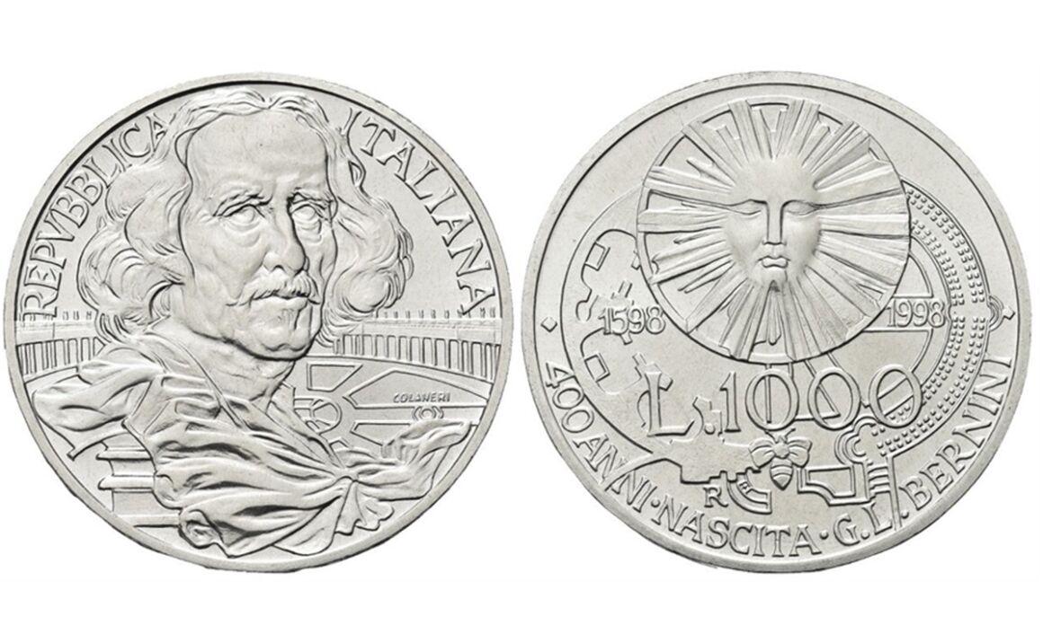 Valore moneta da 1000 Lire 1998 Gian Lorenzo Bernini