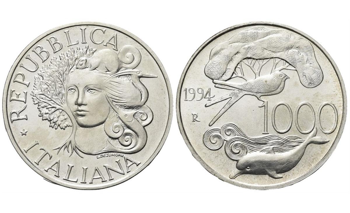 Valore moneta da 1000 Lire Flora e Fauna