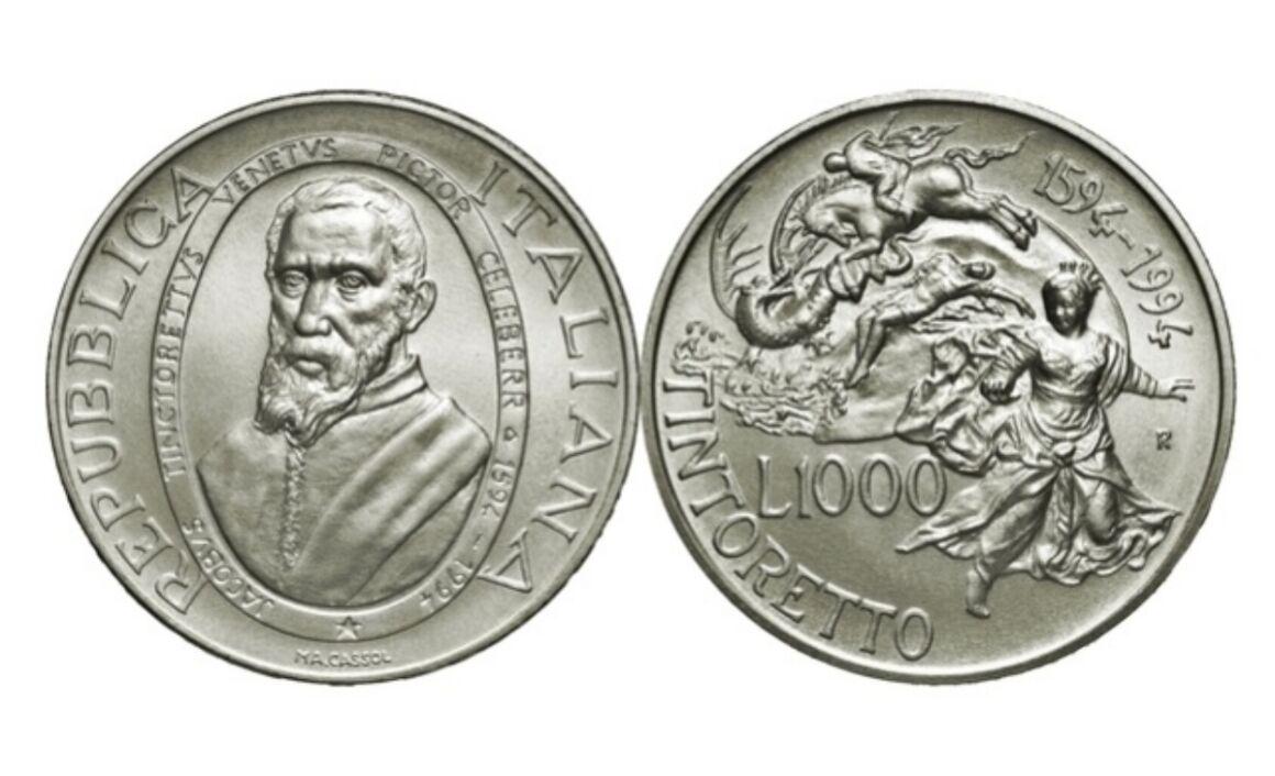 Valore moneta da 1000 Lire Jacopo Tintoretto