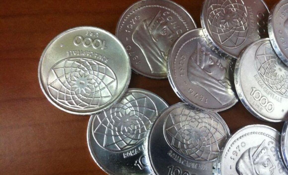 Valore moneta da 1000 Lire Roma Capitale Argento