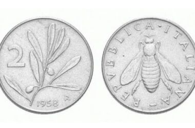 Valore moneta da 2 Lire Olivo