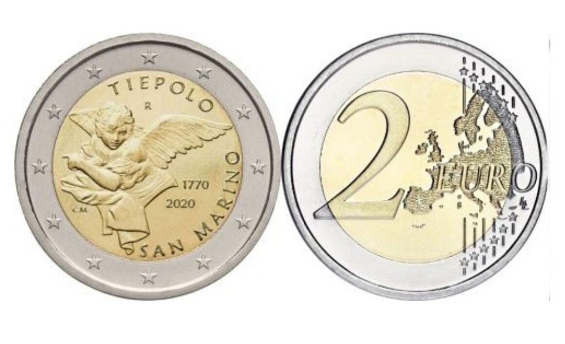 Valore moneta da 2 euro commemorativi Giambattista Tiepolo - San Marino 2020