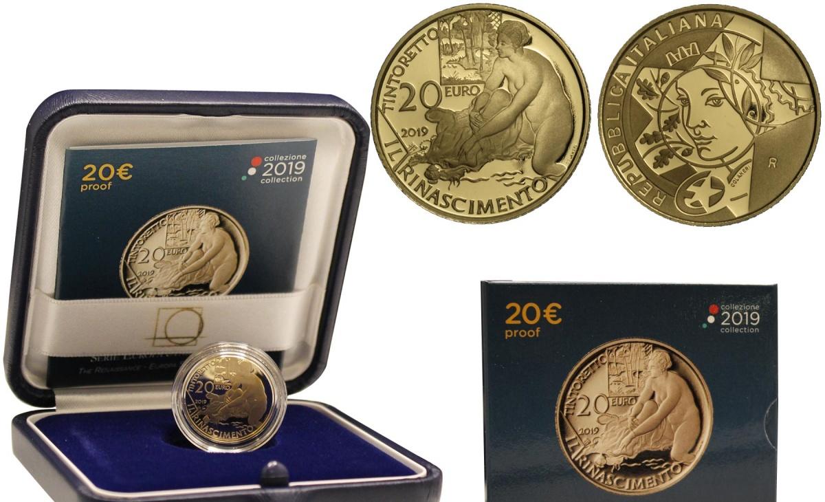 Valore moneta da 20 euro 500° Anniversario della Nascita di Tintoretto - Serie Europa Star Programme - Rinascimento