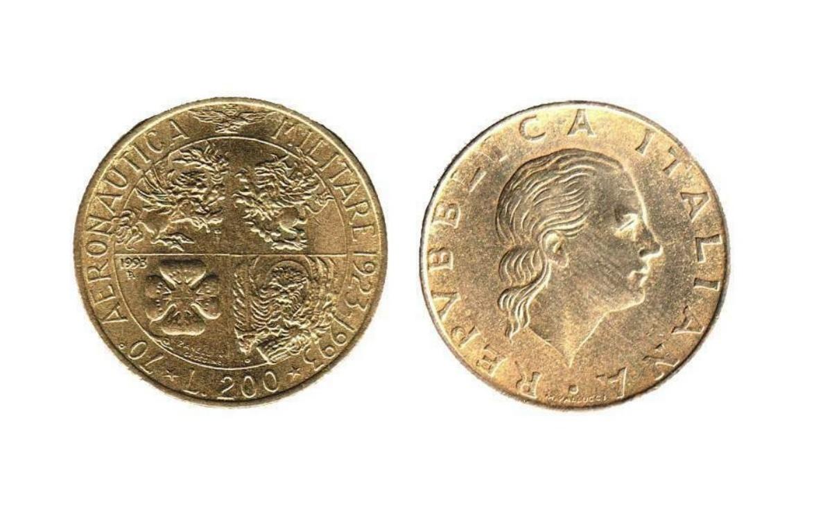 Moneta da 200 lire 1993 Aeronautica Militare