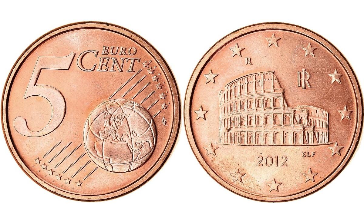 Valore moneta da 5 Centesimi di Euro