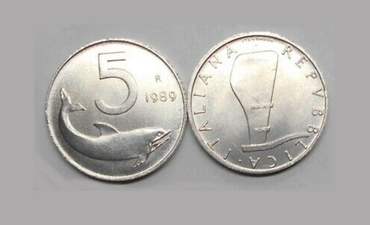 Valore 5 Lire 1989