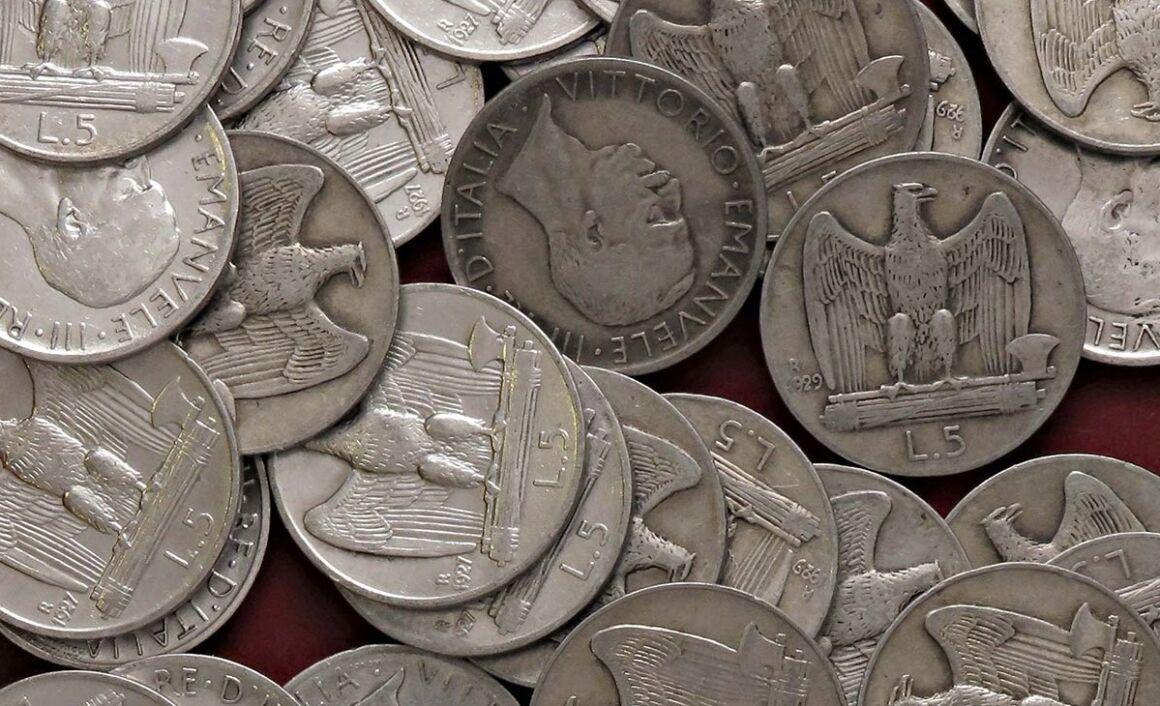 Valore moneta da 5 Lire Aquilotto