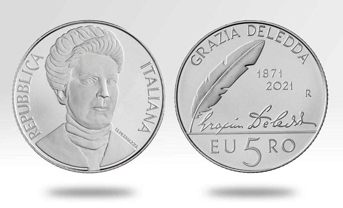 Moneta da 5 euro 150° Anniversario della nascita di Grazia Deledda