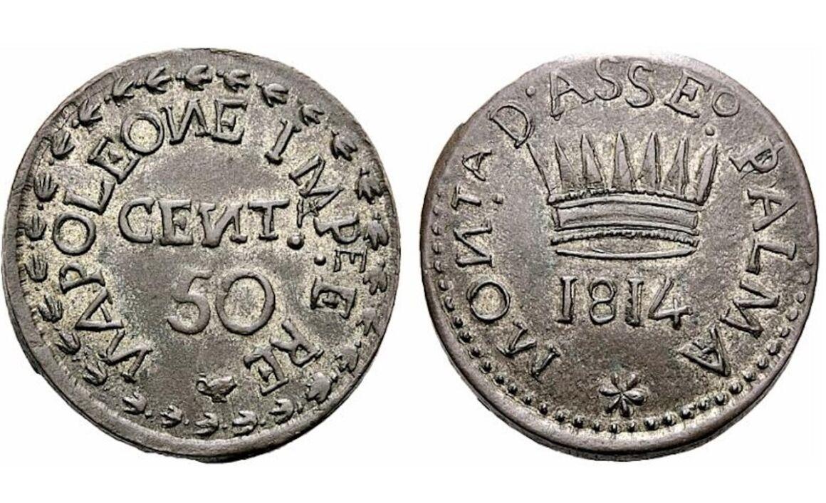 Valore moneta da 50 Centesimi Lire Napoleone I Palmanova