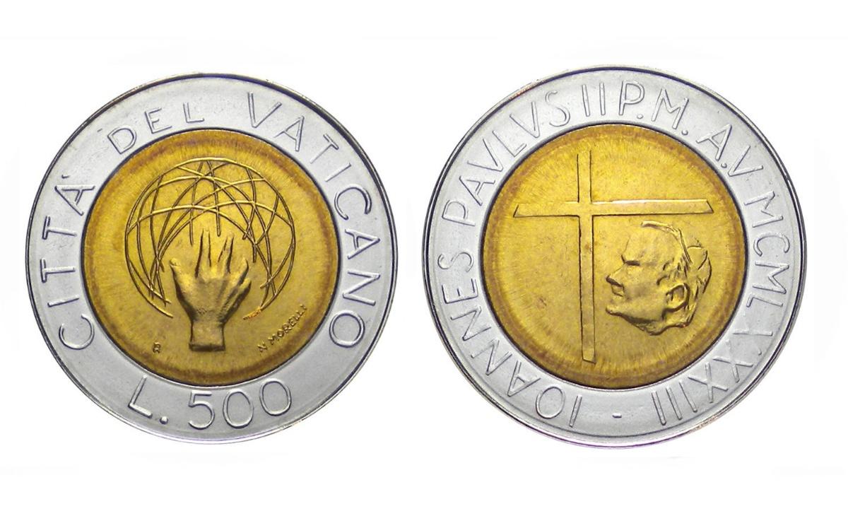 Valore moneta da 500 Lire Vaticano 1983 – Dio che crea l'Universo