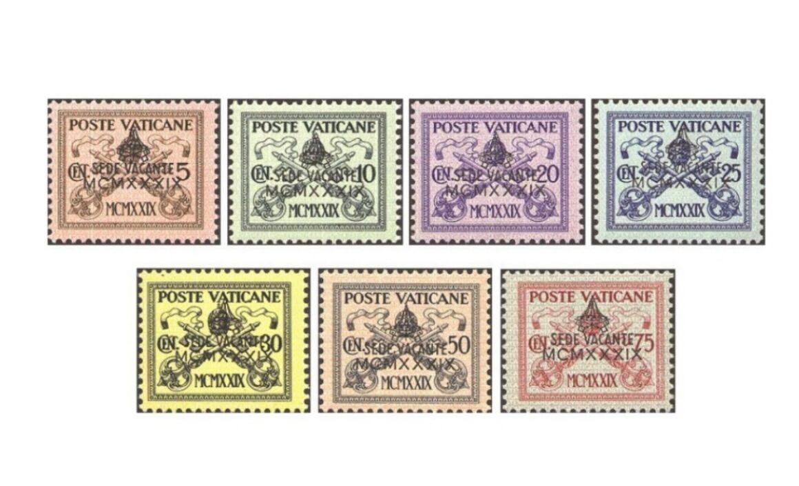 Valore Francobolli Vaticano Sede Vacante 1939