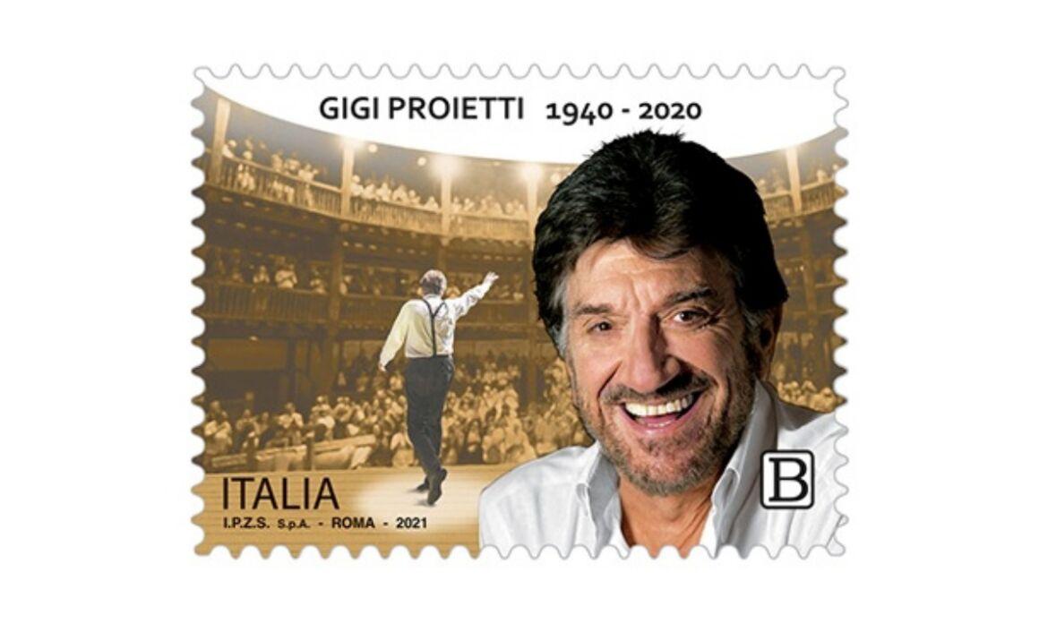 Caratteristiche del Francobollo dedicato a Gigi Proietti