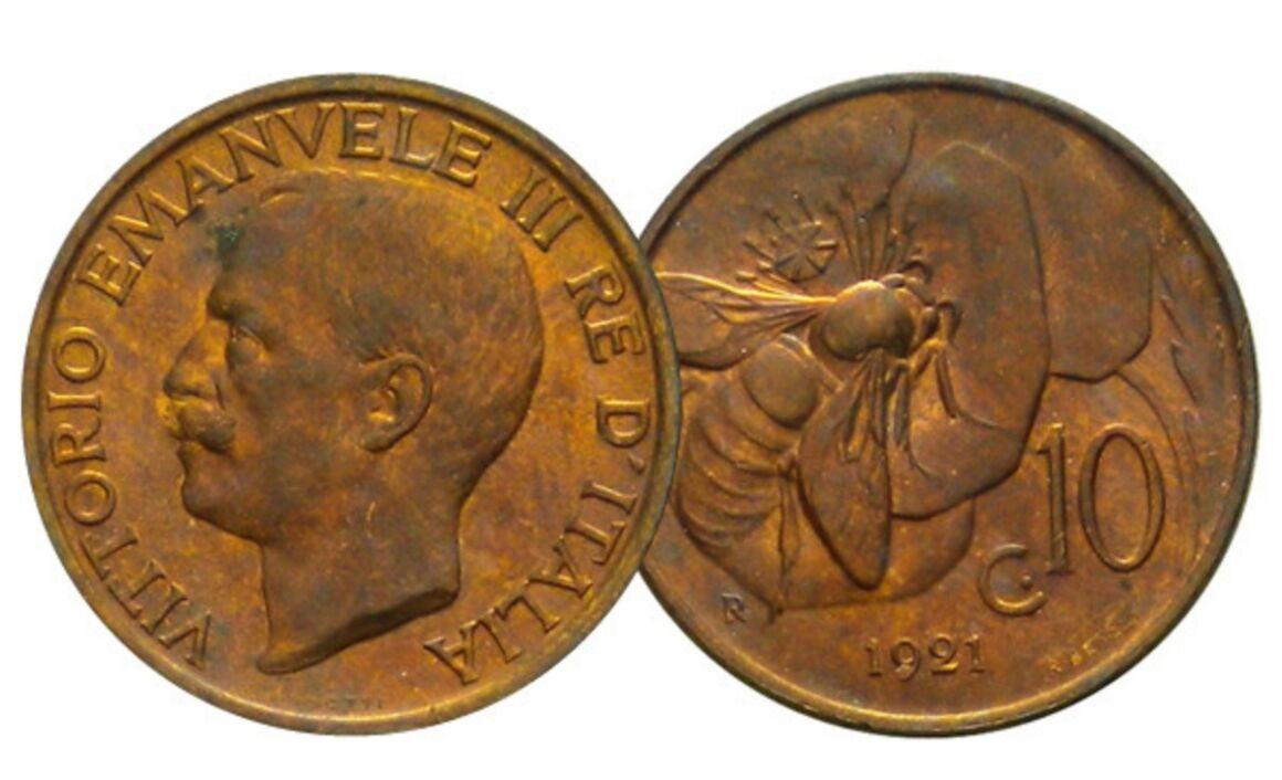 Valore moneta da 10 Centesimi Ape