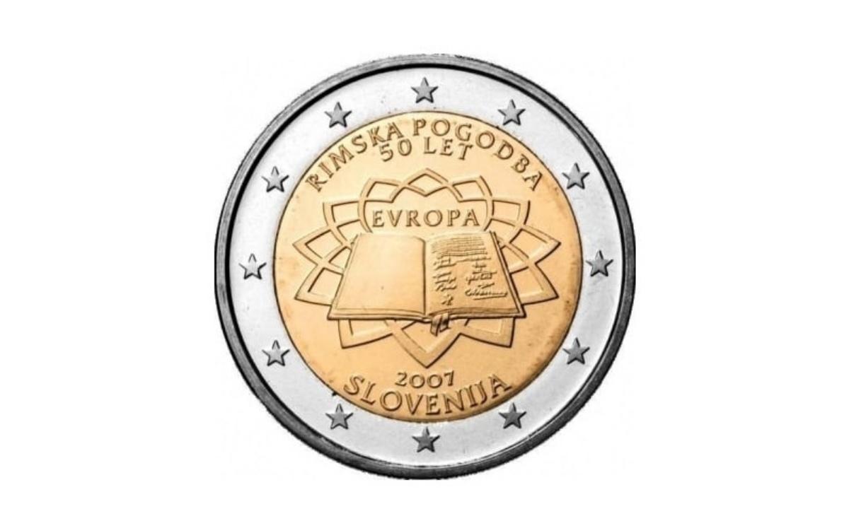 Valore moneta da 2 Euro Slovenia 2007 – 50° anniversario dei Trattati di Roma