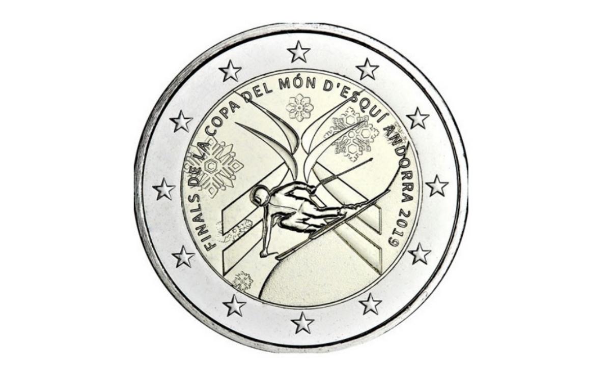 Valore 2 euro Andorra - Coppa del Mondo di Sci Alpino 2019