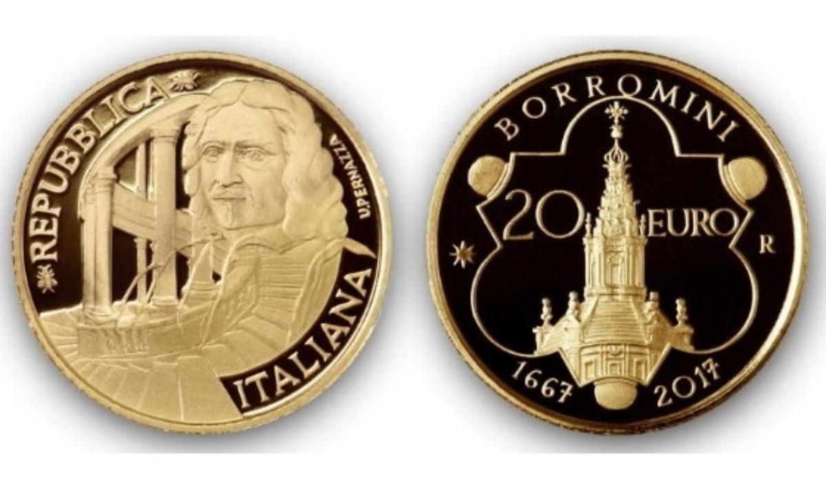 Valore moneta da 20 euro 350° Anniversario della scomparsa di Francesco Borromini 1