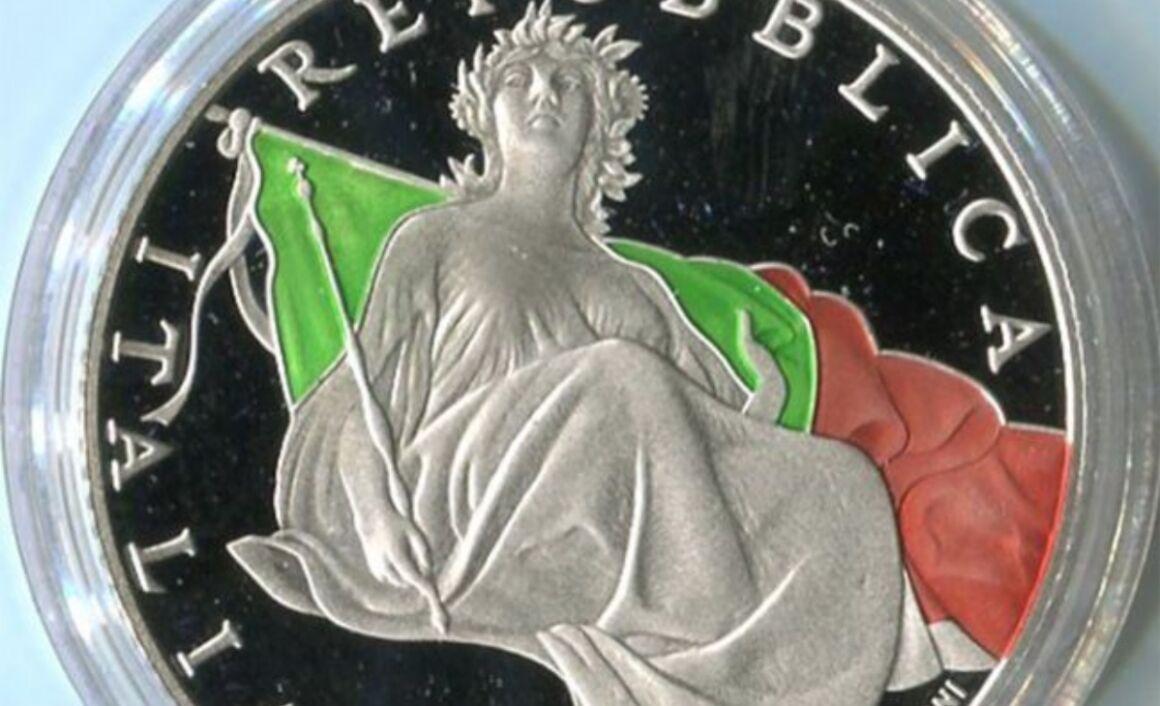 Valore moneta da 5 euro 70° Anniversario dell'entrata in vigore della Costituzione Italiana