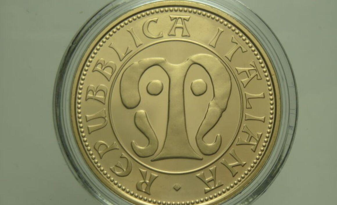 Valore moneta da 50 euro Medioevo Serie Fauna nell'arte