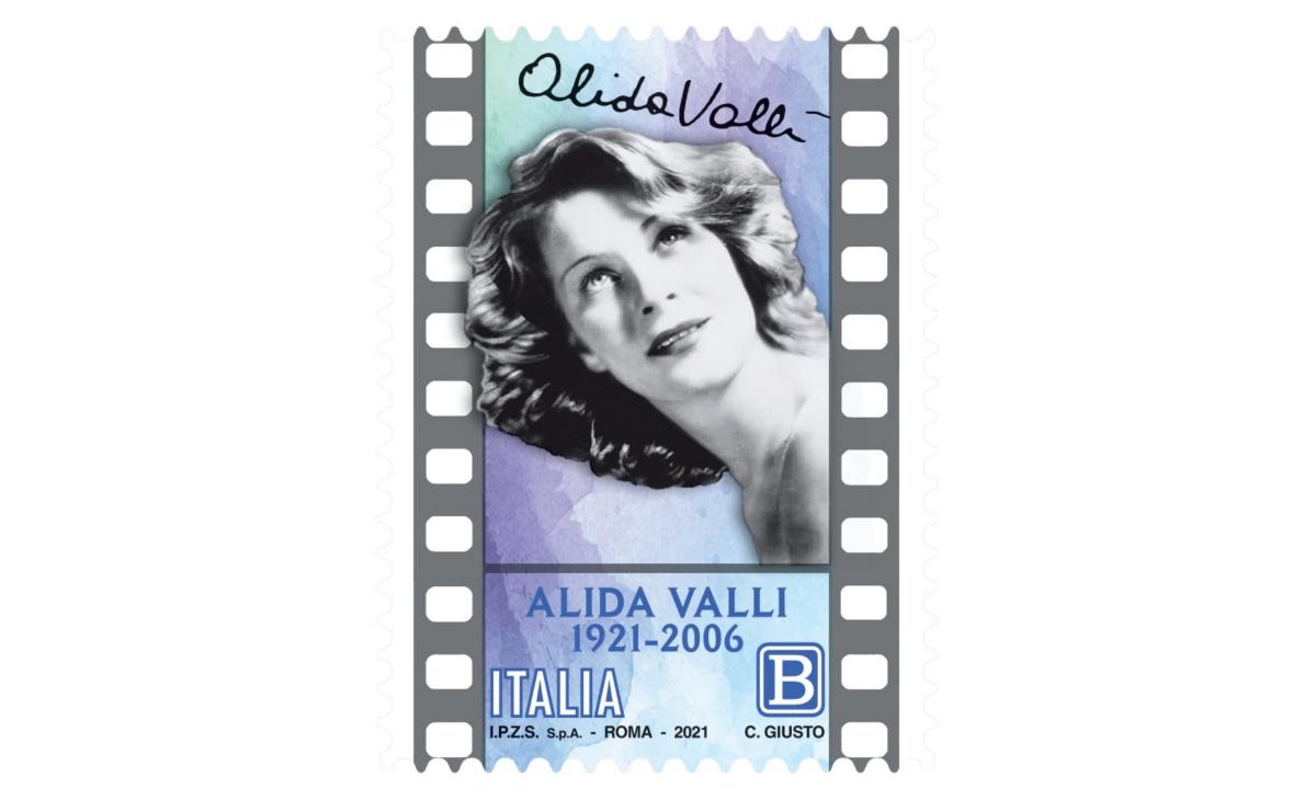 Francobollo 100esimo anniversario della nascita di Alida Valli