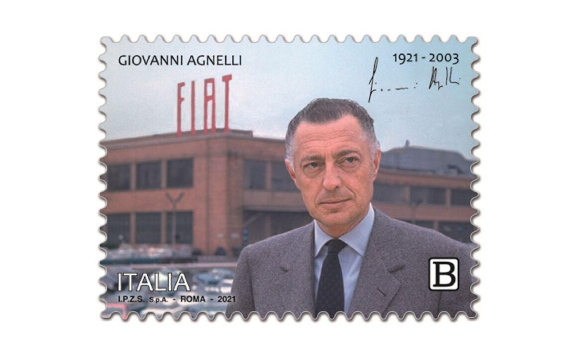 Caratteristiche Francobollo Giovanni Agnelli