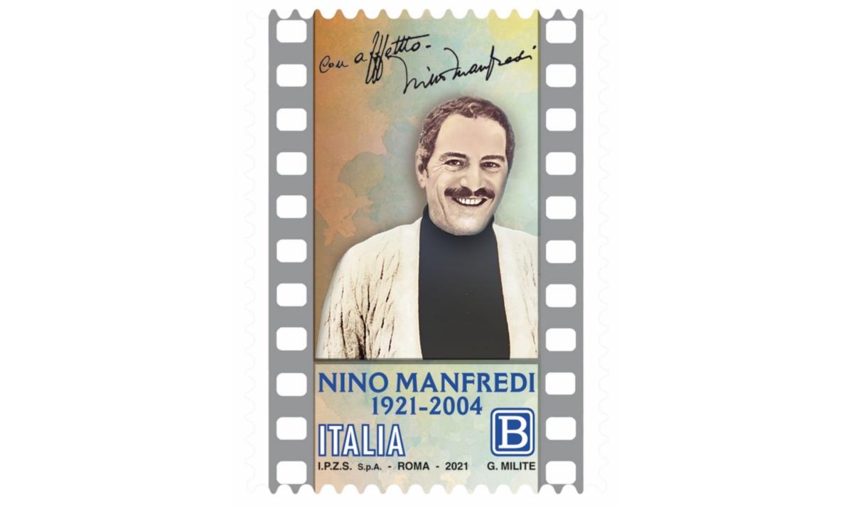 Francobollo centesimo anniversario nascita Nino Manfredi