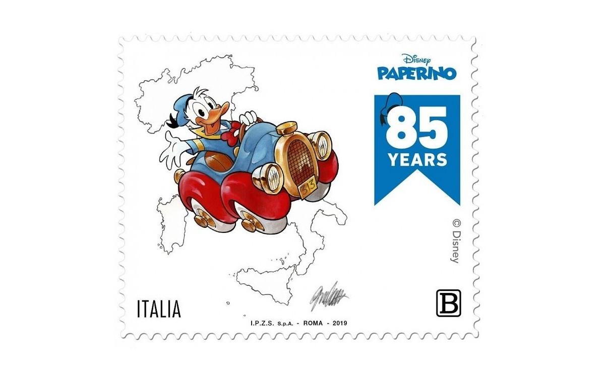 Prezzo e caratteristiche del francobollo dedicato a Paperino
