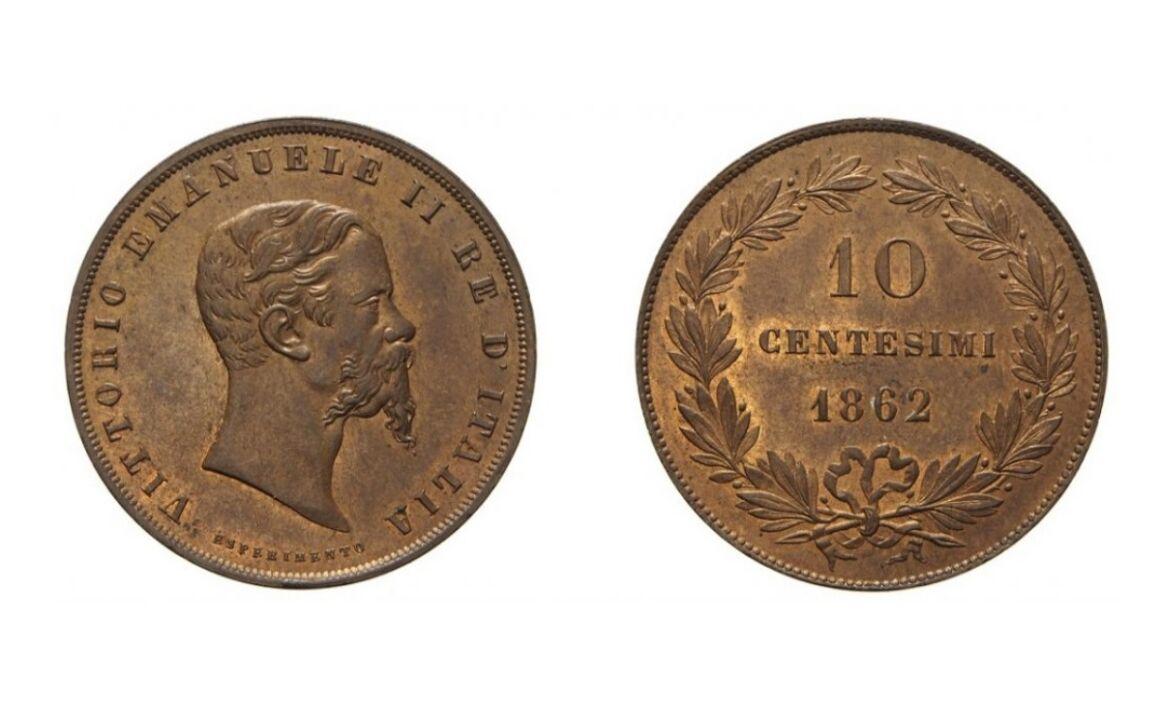 Valore moneta da 10 Centesimi Esperimento