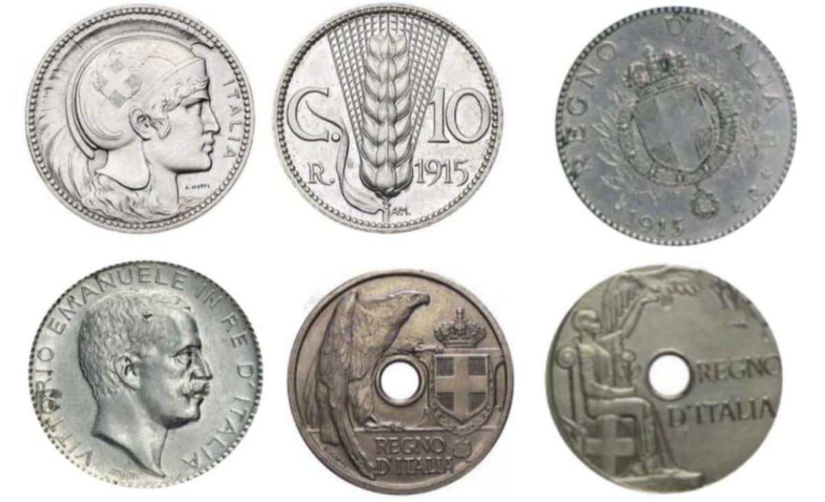 Valore monete 10 Centesimi PROGETTI