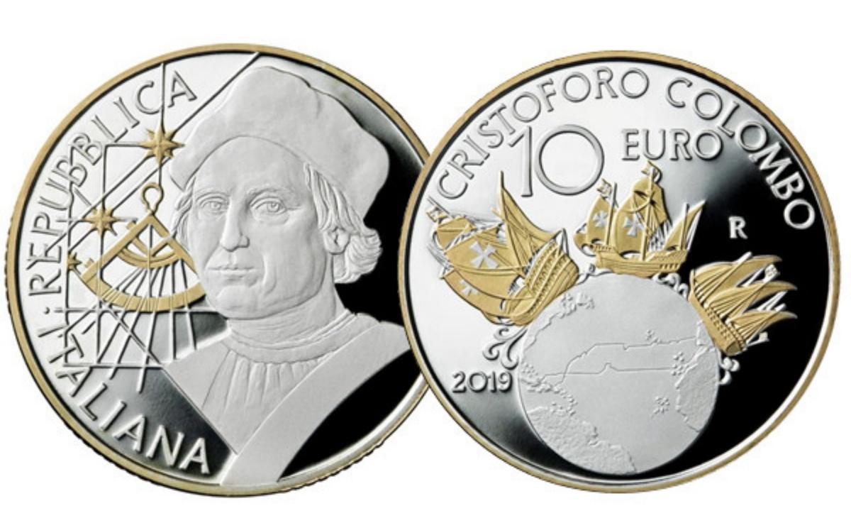 Valore e caratteristiche moneta da 10 euro Cristoforo Colombo
