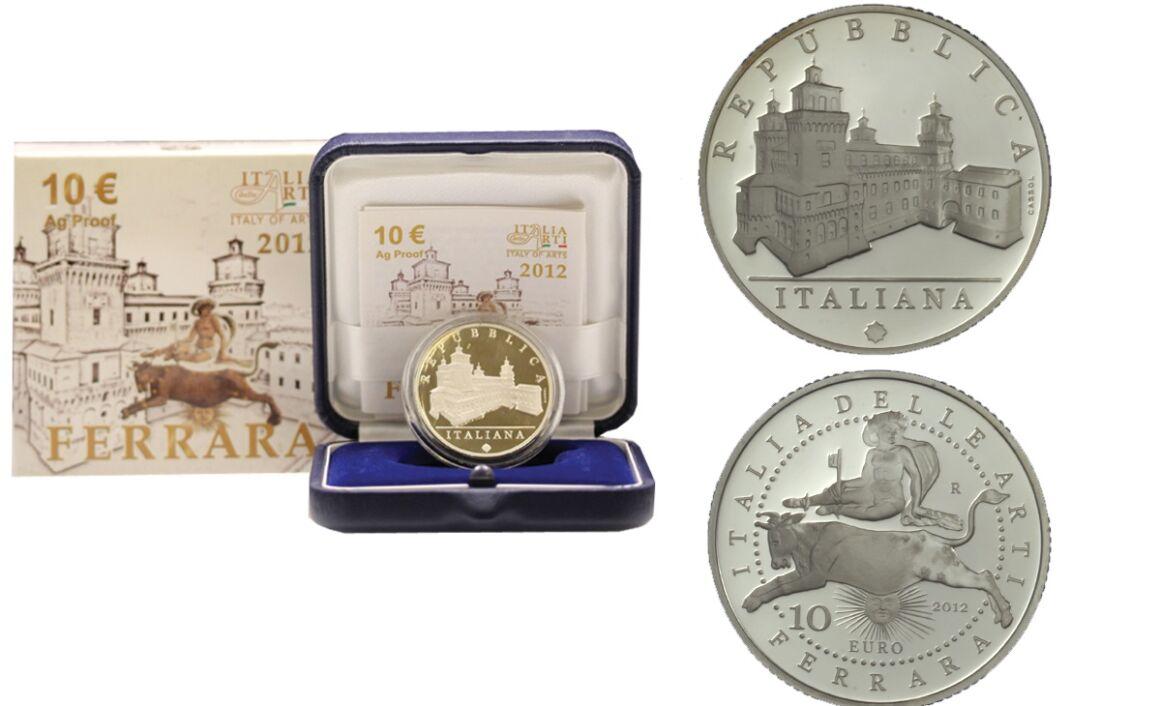 Valore e caratteristiche moneta da 10 euro Ferrara Serie Italia delle Arti
