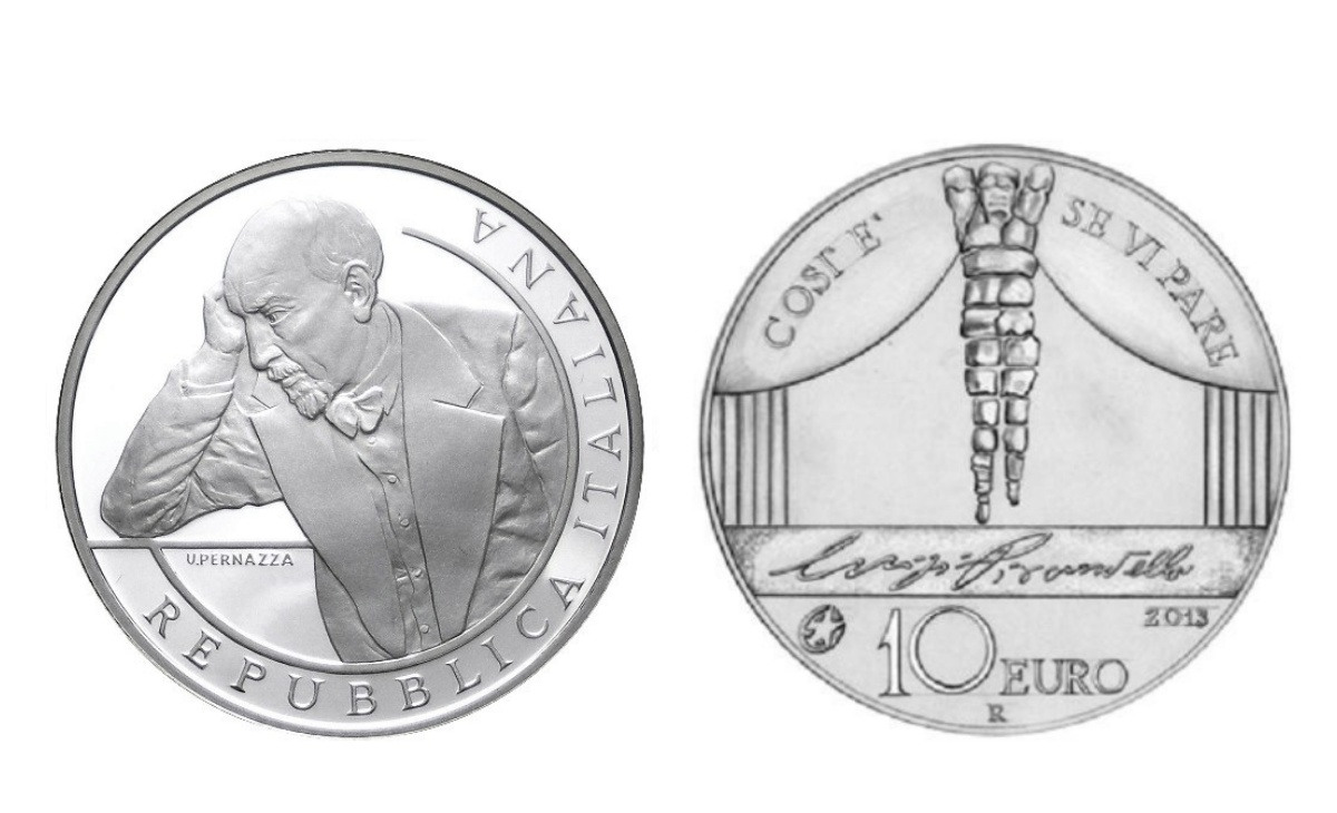 Caratteristiche moneta da 10 euro Luigi Pirandello Scrittori Europei Europe Star Programme