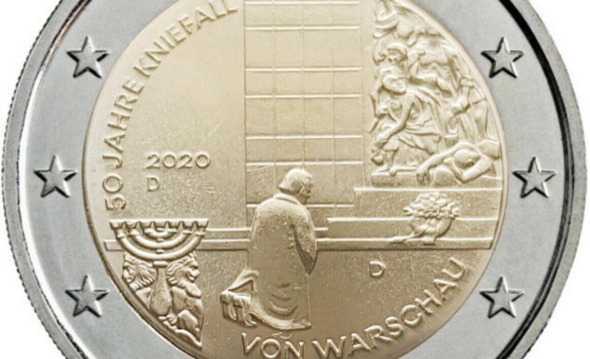 Valore moneta da 2 Euro Genuflessione Varsavia