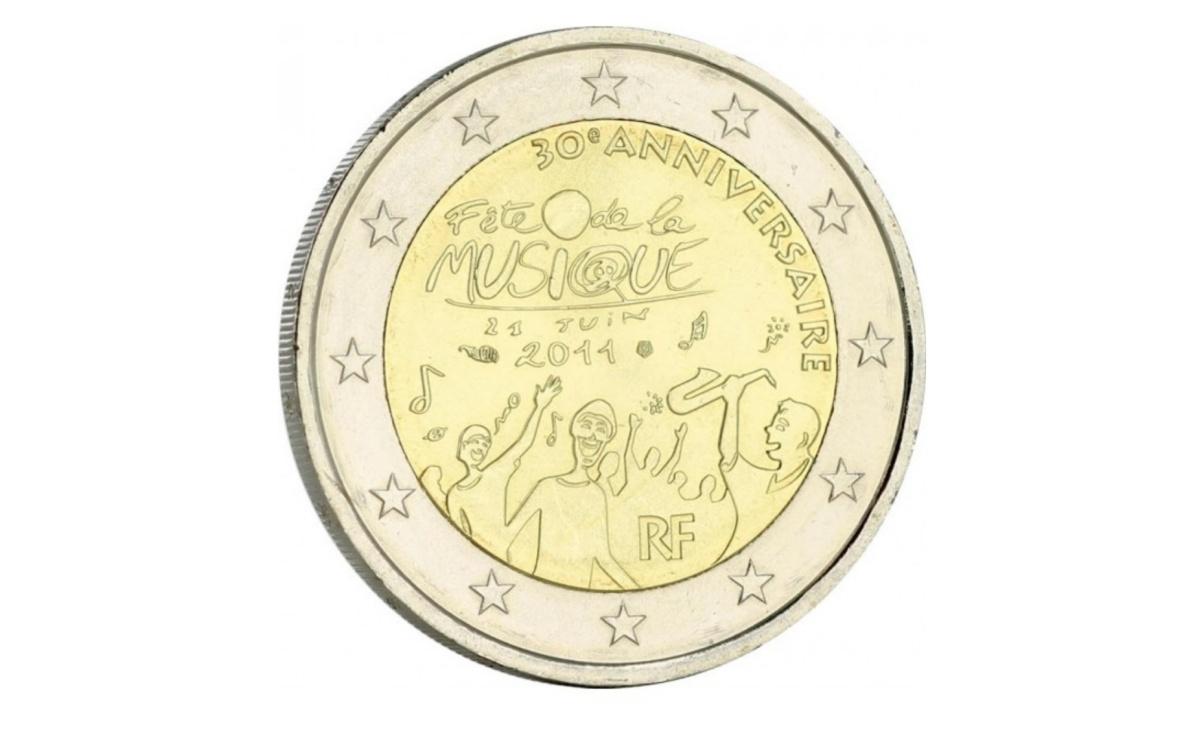 2 euro Francia 2011 Festa della Musica