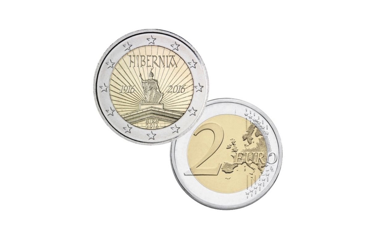 Moneta da 2 euro Hibernia Rivolta di Pasqua Irlanda