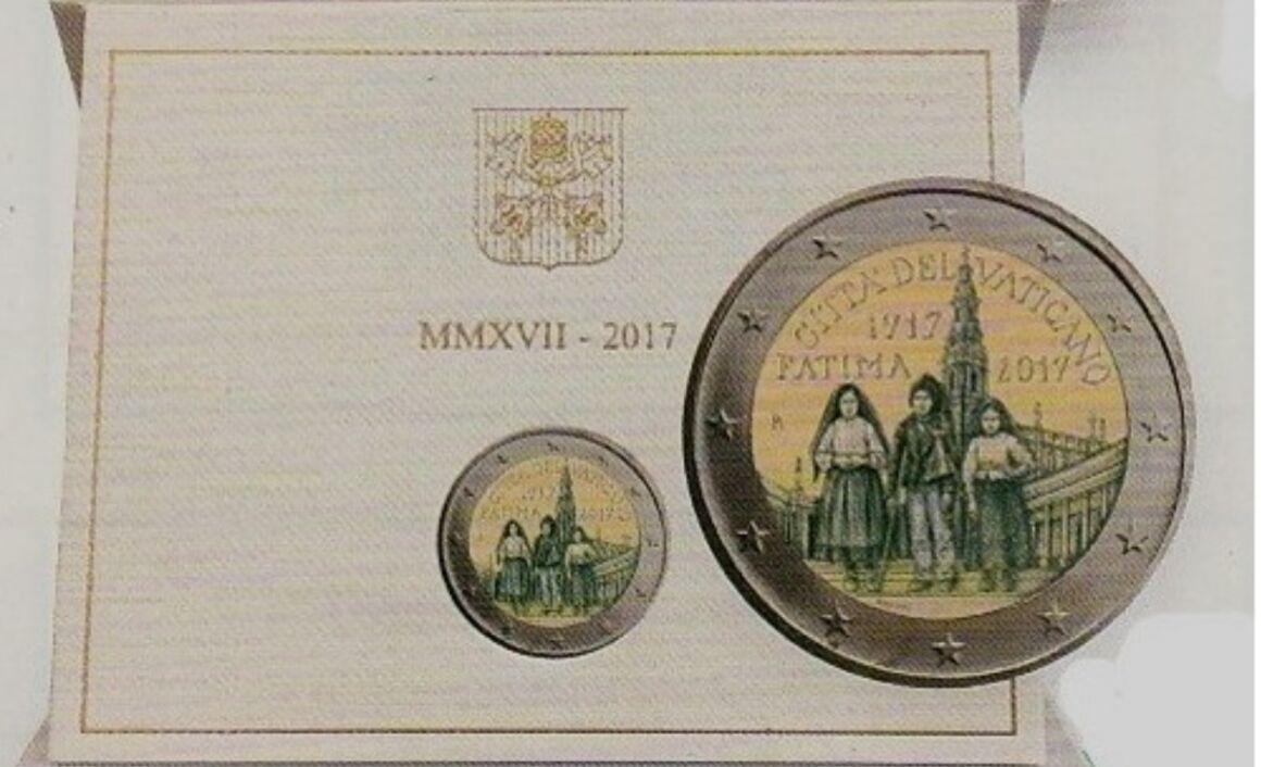 Caratteristiche della moneta da 2 euro Madonna di Fatima Vaticano 2017