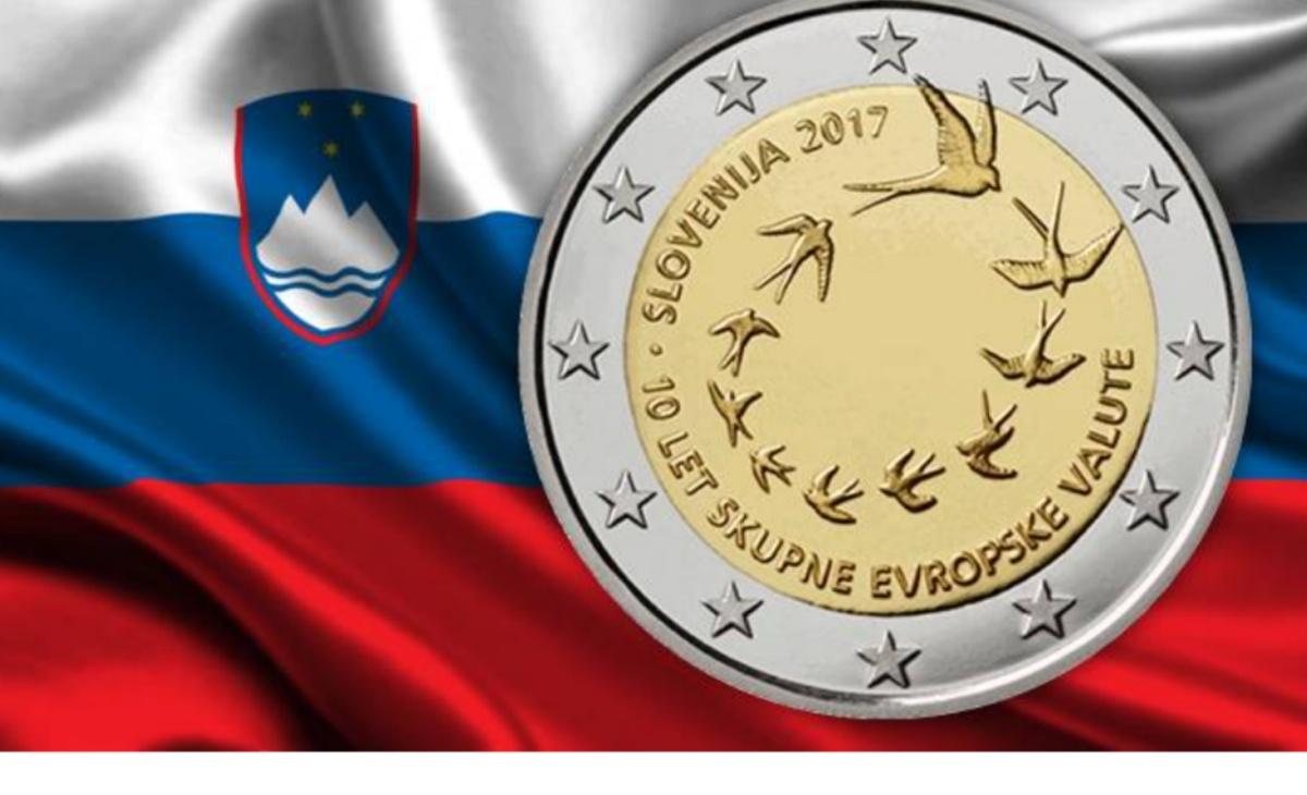 Moneta da 2 euro Rondini - Slovenia 2017