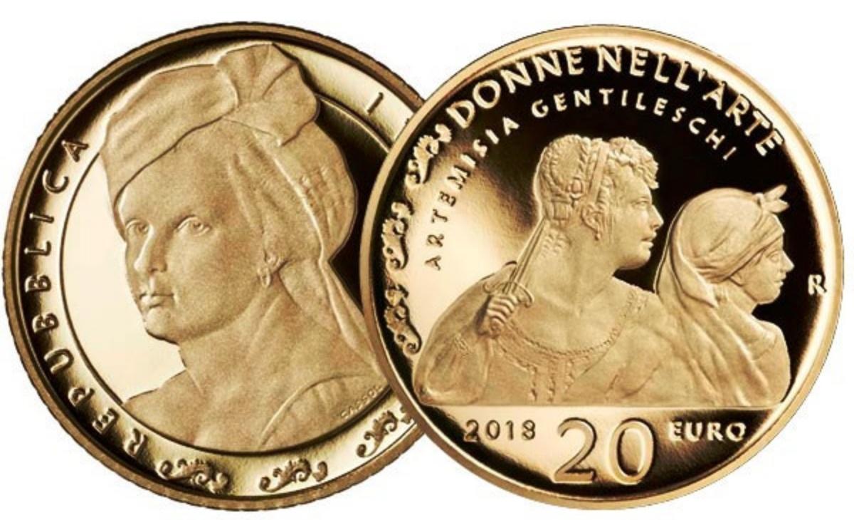 Caratteristiche e valore della moneta da 20 euro Artemisia Gentileschi Serie Le donne nell'arte