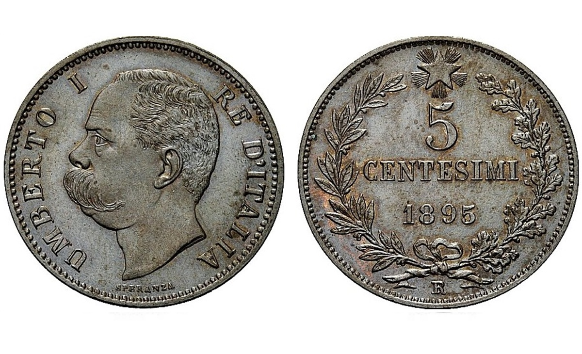 Valore moneta da 5 Centesimi Umberto