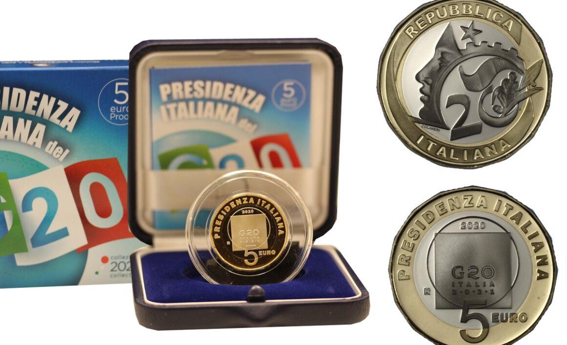 Valore moneta da 5 Euro PRESIDENZA ITALIANA G20