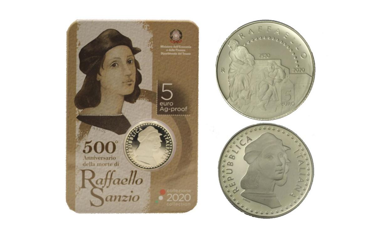 Caratteristiche moneta da 5 euro 500° Anniversario della morte di Raffaello Sanzio