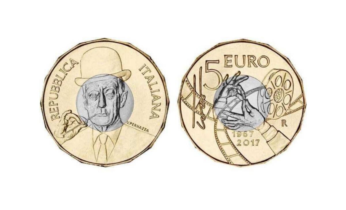 Moneta da 5 euro 50esimo anniversario della scomparsa di Totò