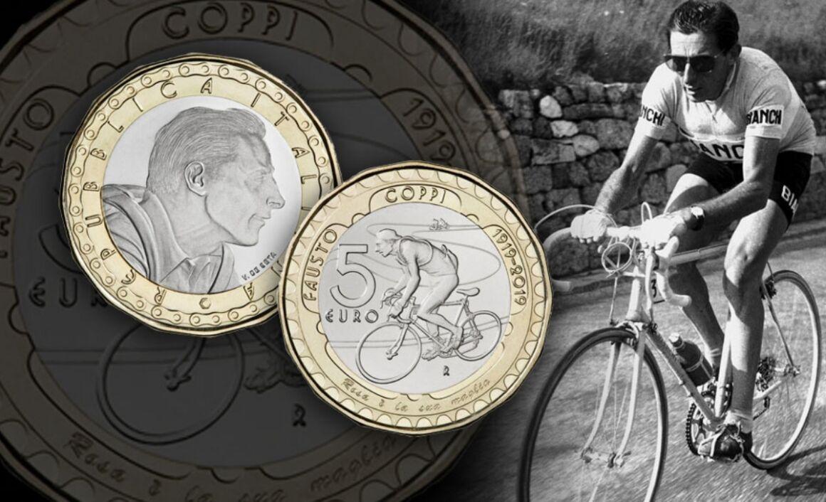 Moneta da 5 euro Centenario della nascita di Fausto Coppi