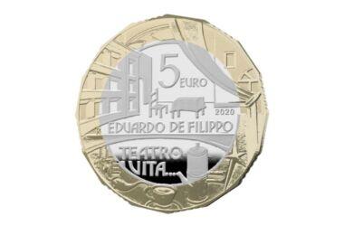 Valore moneta da 5 euro Grandi Artisti Italiani - Eduardo De Filippo